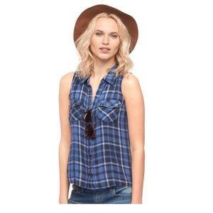 Rock & Republic Plaid Sleeveless Tank